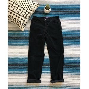 Vintage High Waisted Corduroy Pants